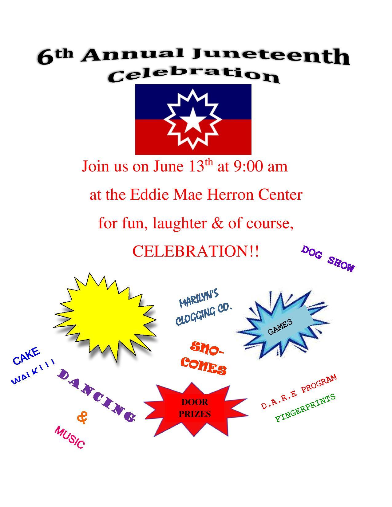 Juneteenth Celebration At The Eddie Mae Herron Center